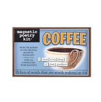 café - Aimant de réfrigérateur Ensemble - Poésie de Réfrigérateur