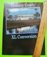 1989 Country Coach Motor Home Bus Dealer Color Catalog Brochure Xlnt+