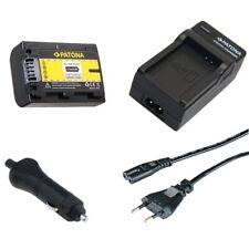 Batteria Patona + Caricabatteria casa/auto per Sony DCR-HC36,DCR-HC36E,DCR-HC37