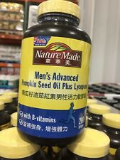 Nature Made Men's Advanced Pumpkin Seed Oil Plus Lycopene 200 Softgels