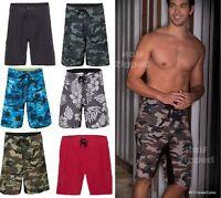 Burnside Camo Diamond Dobby Board Shorts 9371 30-40 Swim Trunks 6 Colors!