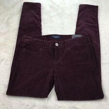 NWT American Eagle AE Women's Burgundy Super Stretch Jegging Skinny Pants Sz 4