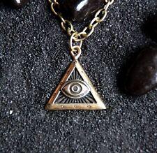 Third Eye Bronze Handmade Pendant with chain