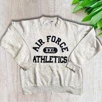 Soffe Sweats Made In Usa Vintage Air Force Athletics Gray Sweatshirt Size Medium