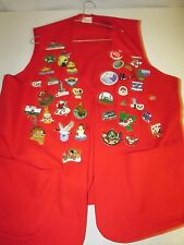 Duluth Lions Club Vest with 40 Pins & Large Embroidered Patch