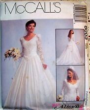 McCalls Wedding Dress Sewing Pattern 8003 NOS Uncut w/Factory Folds Size 16