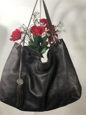 FURLA Dark Brown Pebbled Leather Large Slouch Shoulder Bag