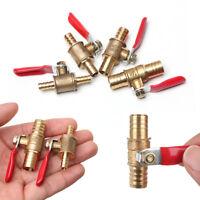 6/8/10/12mm Hose Barb Inline Brass Water/Air Gas Fuel Line Shut-off Ball Valve