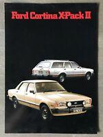 1980 Ford Cortina X-Pack II original Australian sales brochure/leaflet