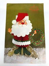 Vtg Christmas Hallmark Honeycomb Mistletoe Santa Centerpiece - New Old Stock