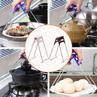 Kitchen Bowl Dish Pot Lifter Clip Anti-hot Plate Steamer Clamp Plate Holder Tong