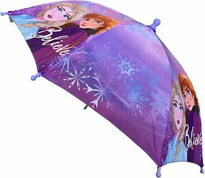 Disney Frozen Elsa Anna Little PreK Girls Kids Umbrella Pink Purple Rain Toddler