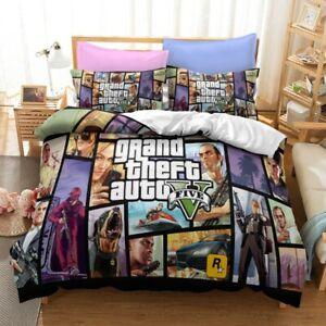 3D Grand Theft Auto Duvet Cover Bedding Set Comforter Cover Pillow Case UK Gift
