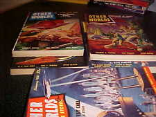 set of 5 Other Worlds Science Stories Pulps Fiction 1950 51 Frederic Brown