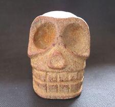 Chinese Antique Hongshan Jade death's-skull statue 1845g