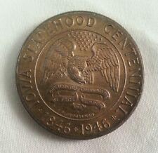 1946 iowa half dollar commemorative amazing color gem bu A1