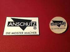 ANSCHUTZ `DIE MEISTER MACHER` : GOLD PLATED  BADGE &  FREE   STICKER