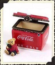 "Boyds Treasure Box ""Coke Chest w/Thirstin"" Coke® Licensed- #919910- Nib- 2005"