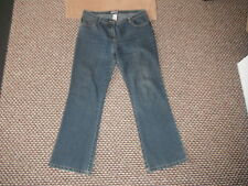 "Cherokee Bootcut Jeans Size 14R Leg 31"" Faded Dark Blue Ladies Jeans"