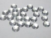 500 Clear Acrylic Flatback Faceted Round Rhinestone Gems 6mm Flatbacks