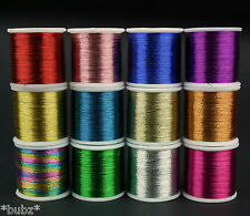 METALLIC SEWING / EMBROIDERY THREAD 200m SPOOLS RED BLUE GOLD SILVER GREEN PINK