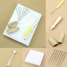 1set Needle Felting Starter Kit Wool Felt Tools Mat + Needle + Accessories Craft