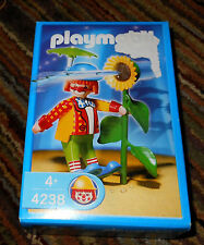 NEW PLAYMOBIL 4238 CIRCUS CLOWN FIGURE with Squirting Sunflower Set New In Box