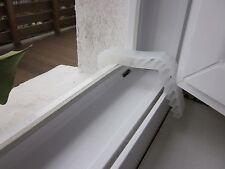 2 Fensterklammer klein, transparent Türstopper Fensterstopper Türfeststeller Tür
