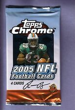 2005 Topps Chrome Football Hobby Pack Fresh from Box! Aaron Rodgers RC year