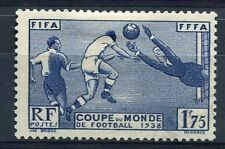 FRANCE 1938, timbre 396, COUPE MONDIALE DE FOOTBALL, oblitéré