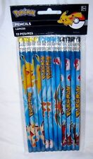 Pokemon characters including Pikachu,Meowth,Charizard +Yveltal Set of 12 Pencils