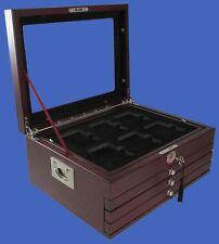 Display Box 24 NGC/PCGS/Premier Coin Slab Wood Mahogany Matte Free Ship