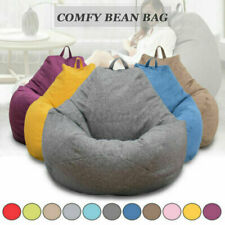 Large Bean Bag Chairs Seat Couch Sofa Cover Indoor Lazy Lounger For Adults Kids