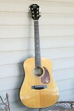 Vintage Epiphone By Gibson PR-350 Six String Acoustic Guitar and Case