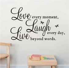 PVC LIVE LAUGH LOVE Letters Removable BedRoom Art Mural Wall Sticker Decal