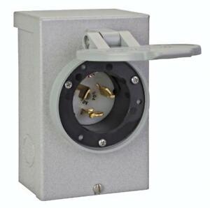 Reliance Controls PB50 50-Amp CS6375 NEMA 3R Power Inlet BoxGray