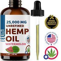 Watermelon Hemp Oil For Pain Relief Anxiety, Sleep 1 oz 25 000 mg