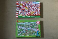 Where's Wally Puzzles x2 - The Camp Site and Santa's Christmas Cracker EXCELLENT
