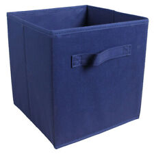 Fabric Foldable Cube Storage Bin Boxes Container Organizer Baskets Dark Blue