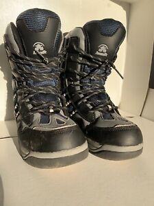Kamik Kids Boots Graffiti Snowboarding Snow US Size 6 CM 23.5 Blue Black