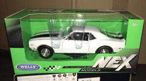 WELLY 1968 CHEVROLET CAMARO Z28 1 :24 DIE CAST METAL MODEL CAR L@@K