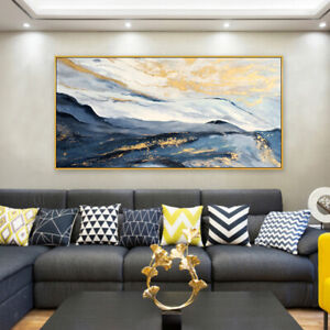 """HH165 Large 100% Hand-painted Abstract Landscape oil painting Unframed 48"""""""