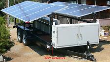New ListingSolar generator off grid 24kW Lithium-ion battery bank on trailer