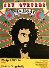 CAT STEVENS  rares Konzertplakat von 1971 in MANNHEIM