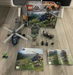 Lego Jurassic World 75928: Blue's Helicopter Pursuit with Box & Instructions