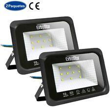 FOCO PROYECTOR LED SMD 10W Exterior Focos Lámpara  Pared Luz Reflector PACK DE 2