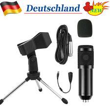DE Pro Kondensator Microphone Mikrofon Kit Komplett Set für Studio Aufnahme Neu