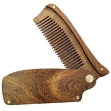 2X(Black Gold Sandalwood Men'S Folding Comb Portable Wooden Comb C3Y8)