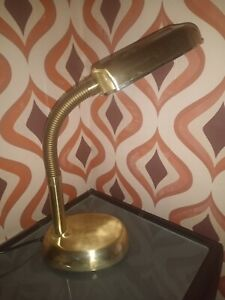 Vintage Gold Anglepoise Lamp Gooseneck
