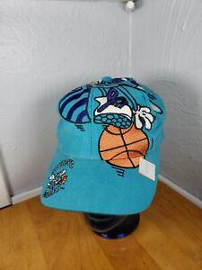 Charlotte Hornets The Game Big Logo Vintage 1990s Snapback Cap Hat RARE